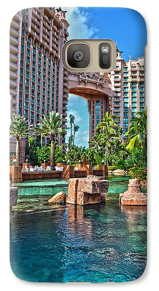 Galaxy Case featuring the photograph Atlantis - Bahamas by Timothy Lowry