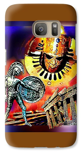 Galaxy Case featuring the mixed media Atlantis - The Minoan Empire Has Fallen by Hartmut Jager