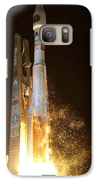 Galaxy Case featuring the photograph Atlas V Rocket Taking Off by Science Source