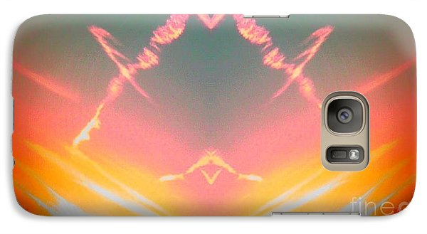 Galaxy Case featuring the photograph Atomic Contrail by Karen Newell