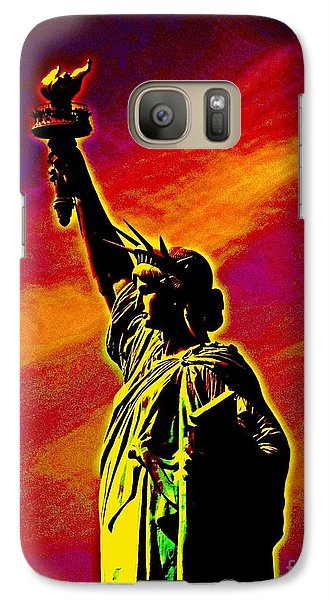 Galaxy Case featuring the photograph Atomic Liberty by Andy Heavens