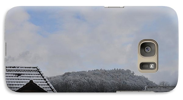 Galaxy Case featuring the photograph Attic Windows Open To The Sky by Felicia Tica