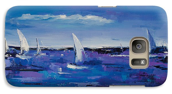 Galaxy Case featuring the painting Au Gre Du Vent by Elise Palmigiani