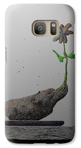 Galaxy Case featuring the painting Au Paired by A  Robert Malcom