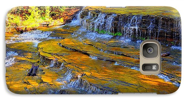 Galaxy Case featuring the photograph Au Train Falls by Terri Gostola