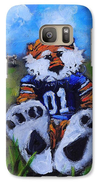 Aubie With The Cows Galaxy Case by Carole Foret