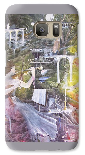 Galaxy Case featuring the painting Aubry's Nocturne by Jackie Mueller-Jones