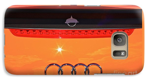 Galaxy Case featuring the photograph Audi Orange by Linda Bianic