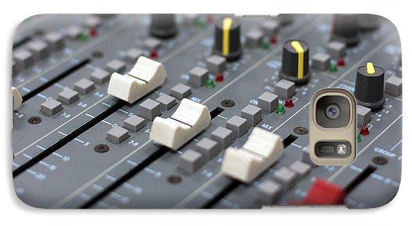 Galaxy Case featuring the photograph Audio Mixing Board Console by Gunter Nezhoda