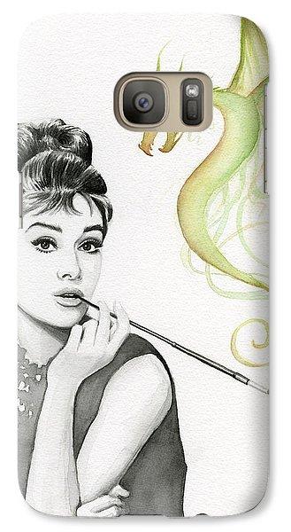 Magician Galaxy S7 Case - Audrey And Her Magic Dragon by Olga Shvartsur