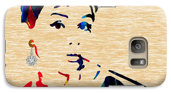 Audrey Helburn Collection Galaxy Case by Marvin Blaine