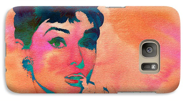 Galaxy Case featuring the painting Audrey Hepburn 1 by Brian Reaves