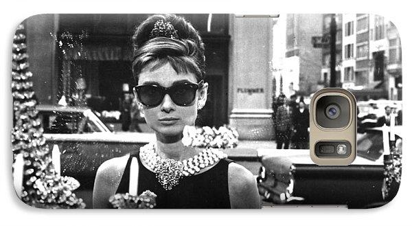 Audrey Hepburn Breakfast At Tiffany's Galaxy S7 Case by Georgia Fowler