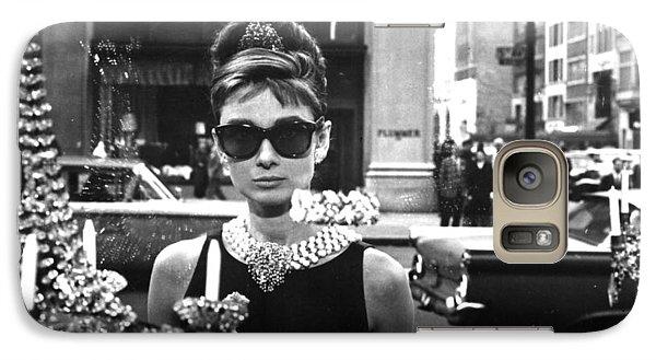 Audrey Hepburn Breakfast At Tiffany's Galaxy Case by Georgia Fowler