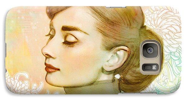 Audrey Hepburn Galaxy Case by Catherine Noel