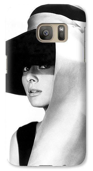 Audrey Hepburn Galaxy Case by Daniel Hagerman