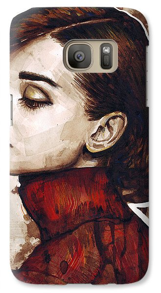 Audrey Hepburn Galaxy Case by Olga Shvartsur