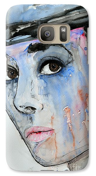 Galaxy Case featuring the painting Audrey Hepburn - Painting by Ismeta Gruenwald