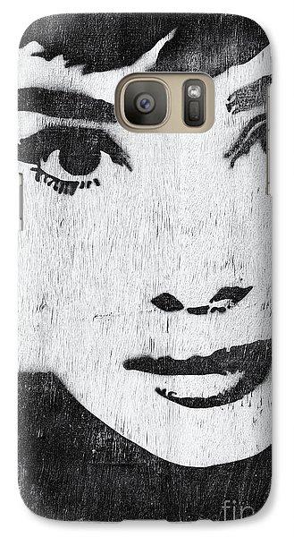 Audrey Hepburn Galaxy Case by Tim Gainey