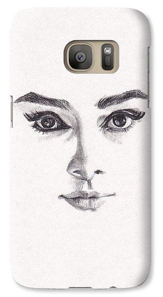 Audrey Galaxy S7 Case by Lee Ann Shepard