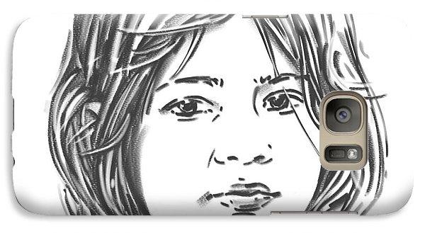 Galaxy Case featuring the drawing Audrey by Olimpia - Hinamatsuri Barbu