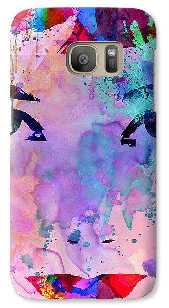 Audrey Watercolor Galaxy Case by Naxart Studio