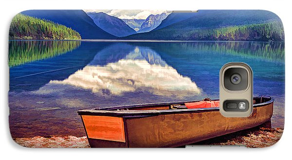 Galaxy Case featuring the photograph August Afternoon At The Lake by Jaki Miller
