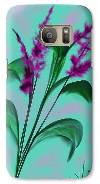 Galaxy Case featuring the painting August Bouquet by Judy Via-Wolff