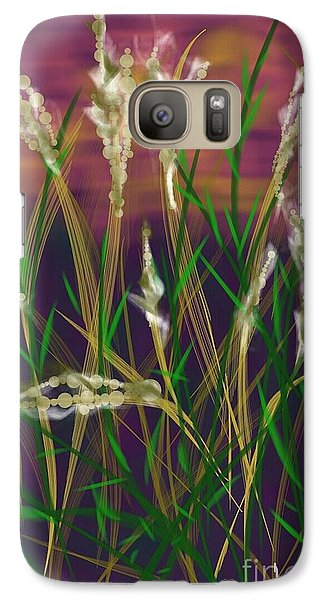 Galaxy Case featuring the painting August Breath by Judy Via-Wolff