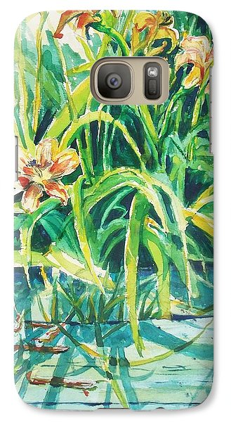 Galaxy Case featuring the painting August Shadows by Joy Nichols