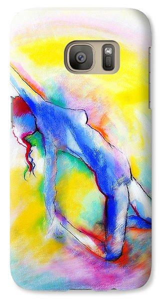 Galaxy Case featuring the pastel Aura by Jodie Marie Anne Richardson Traugott          aka jm-ART