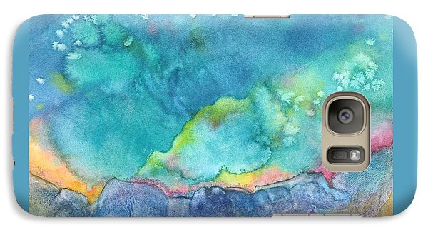 Galaxy Case featuring the painting Aurora Borealis by Nancy Jolley