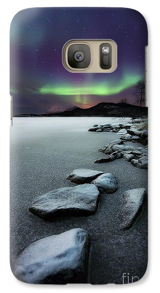 Landscape Galaxy S7 Case - Aurora Borealis Over Sandvannet Lake by Arild Heitmann