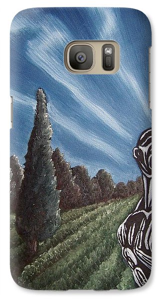 Galaxy Case featuring the painting Aurora by Michael  TMAD Finney