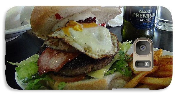 Galaxy Case featuring the photograph Aussi Burger by Tony Mathews