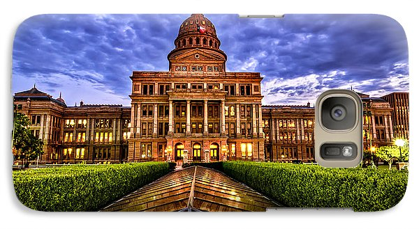 Galaxy Case featuring the photograph Austin Capitol At Sunset by John Maffei