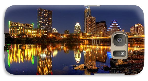 Galaxy Case featuring the photograph Austin On The Rocks by Dave Files