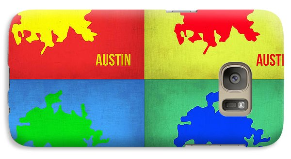 Austin Galaxy S7 Case - Austin Pop Art Map 1 by Naxart Studio
