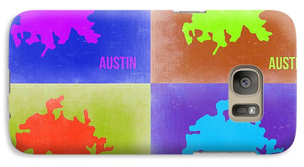 Austin Galaxy S7 Case - Austin Pop Art Map 2 by Naxart Studio