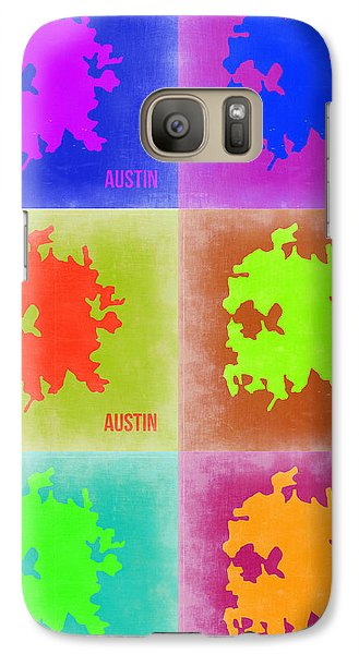Austin Galaxy S7 Case - Austin Pop Art Map 4 by Naxart Studio