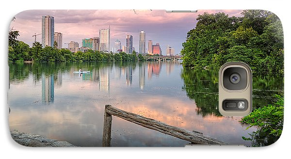 Geese Galaxy S7 Case - Austin Skyline From Lou Neff Point by Silvio Ligutti