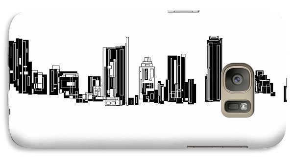 Galaxy Case featuring the painting Austin Skyline II by Sheep McTavish