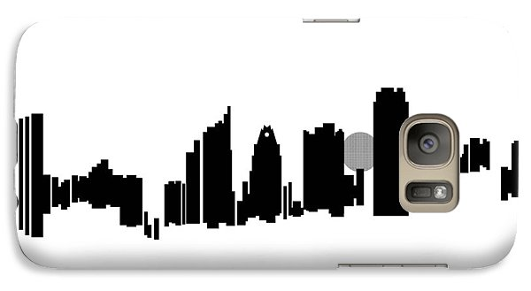 Galaxy Case featuring the painting Austin Skyline by Sheep McTavish