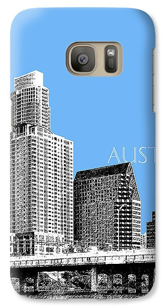 Austin Skyline - Sky Blue Galaxy S7 Case by DB Artist