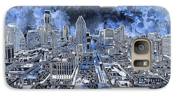 Austin Texas Abstract Panorama 5 Galaxy S7 Case