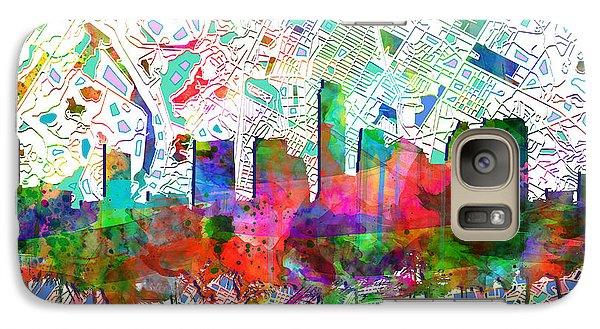 Austin Texas Abstract Panorama 7 Galaxy S7 Case