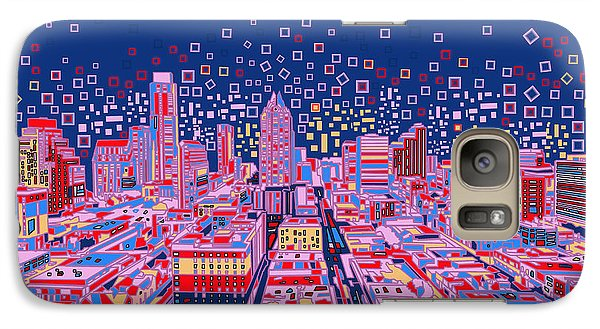 Austin Texas Abstract Panorama Galaxy S7 Case