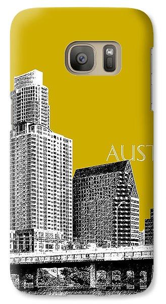 Austin Texas Skyline - Gold Galaxy S7 Case by DB Artist