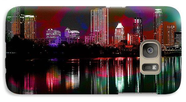 Austin Texas Skyline Galaxy Case by Marvin Blaine