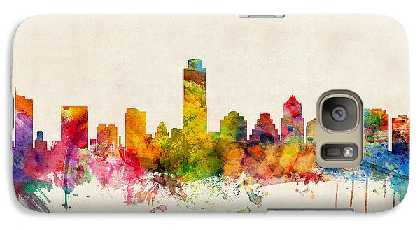 Austin Galaxy S7 Case - Austin Texas Skyline by Michael Tompsett